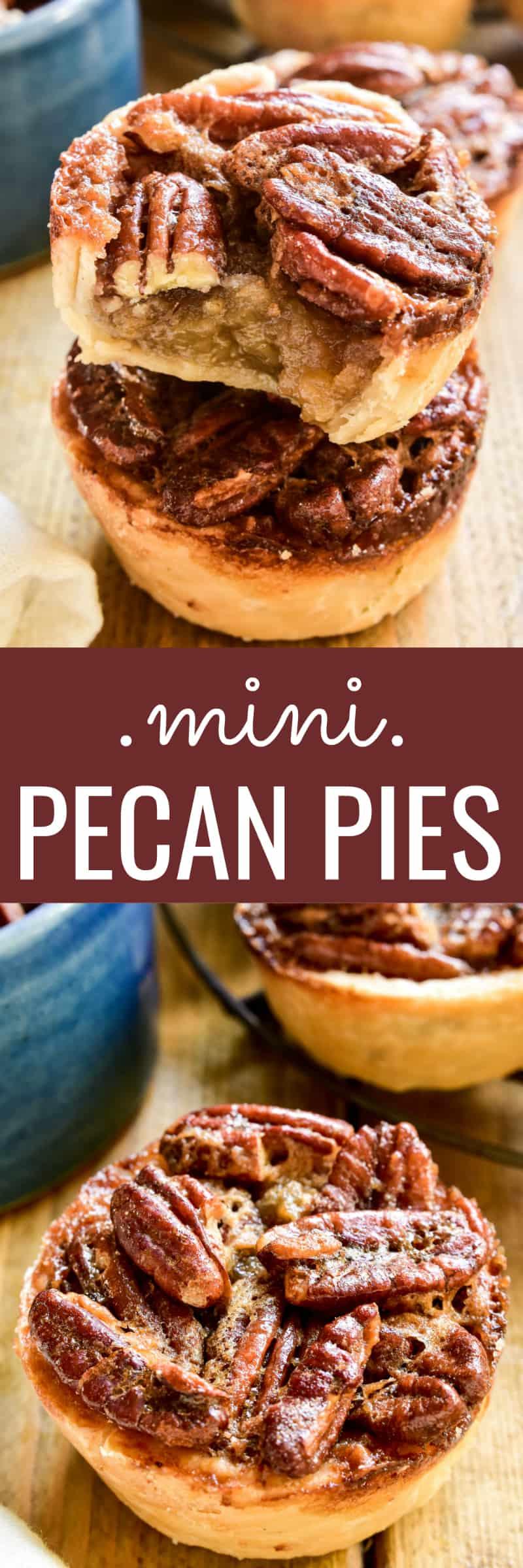 Collage image of Mini Pecan Pies
