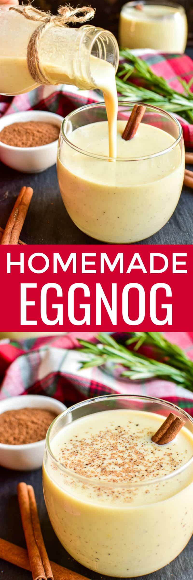 Collage image of Homemade Eggnog