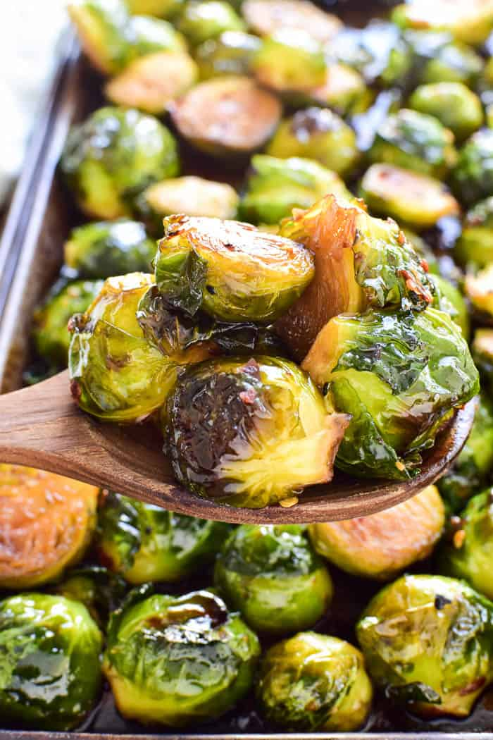 Honey Soy Roasted Brussels Sprouts Lemon Tree Dwelling