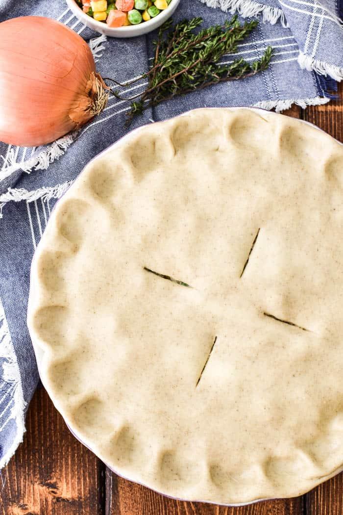 Chicken Pot Pie unbaked