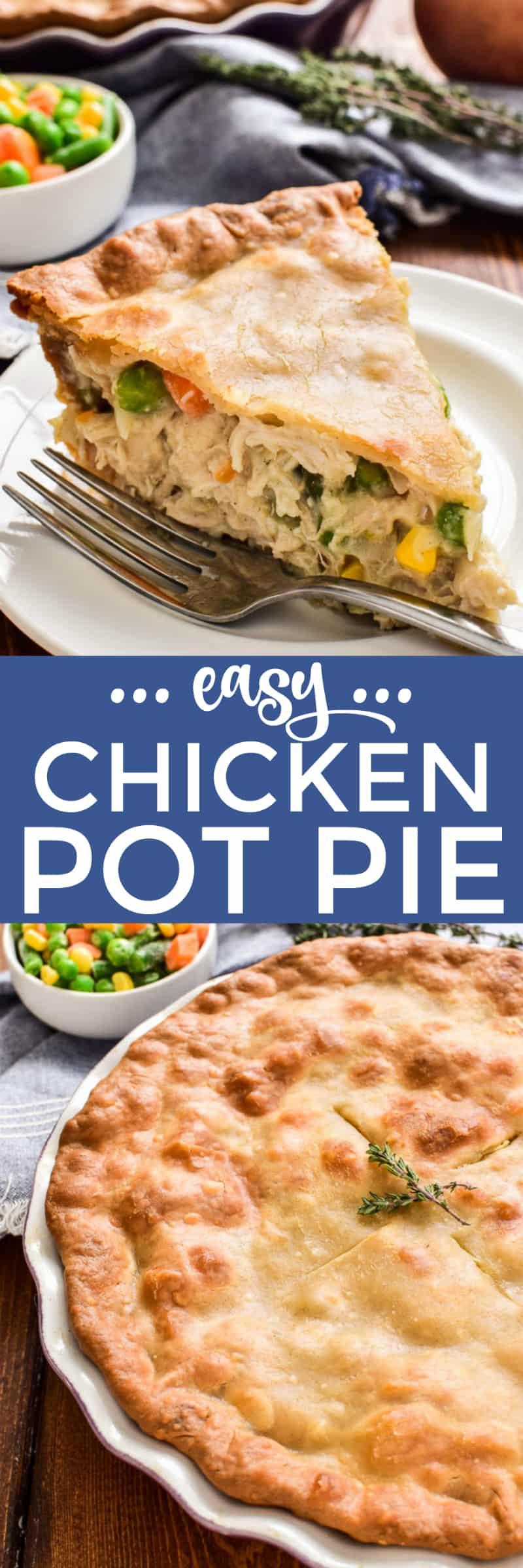 Collage image of Chicken Pot Pie