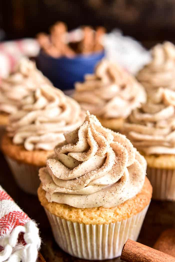 Close-up of Churro Cupcakes