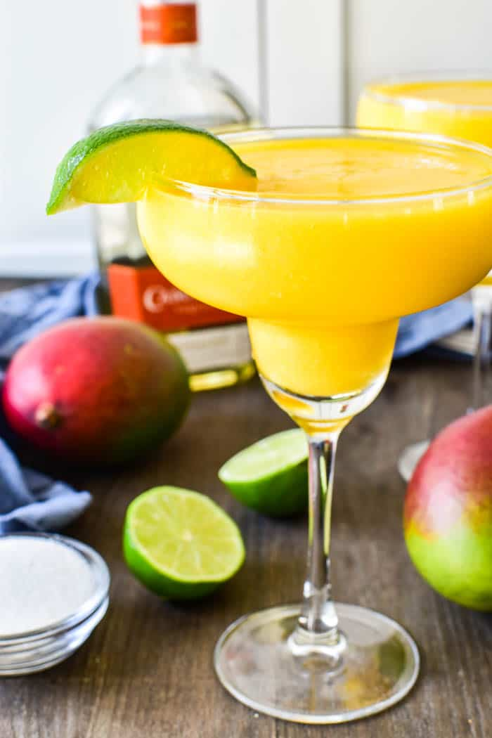 Close-up of Frozen Mango Margarita