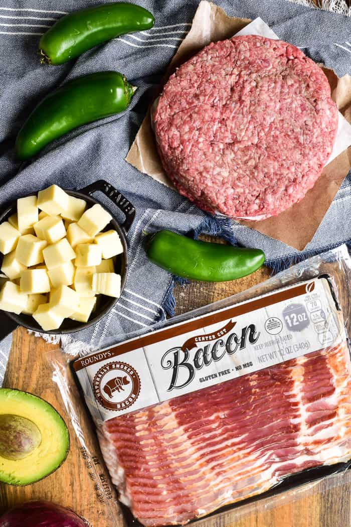 Roundy's Bacon and Queso Burger ingredients