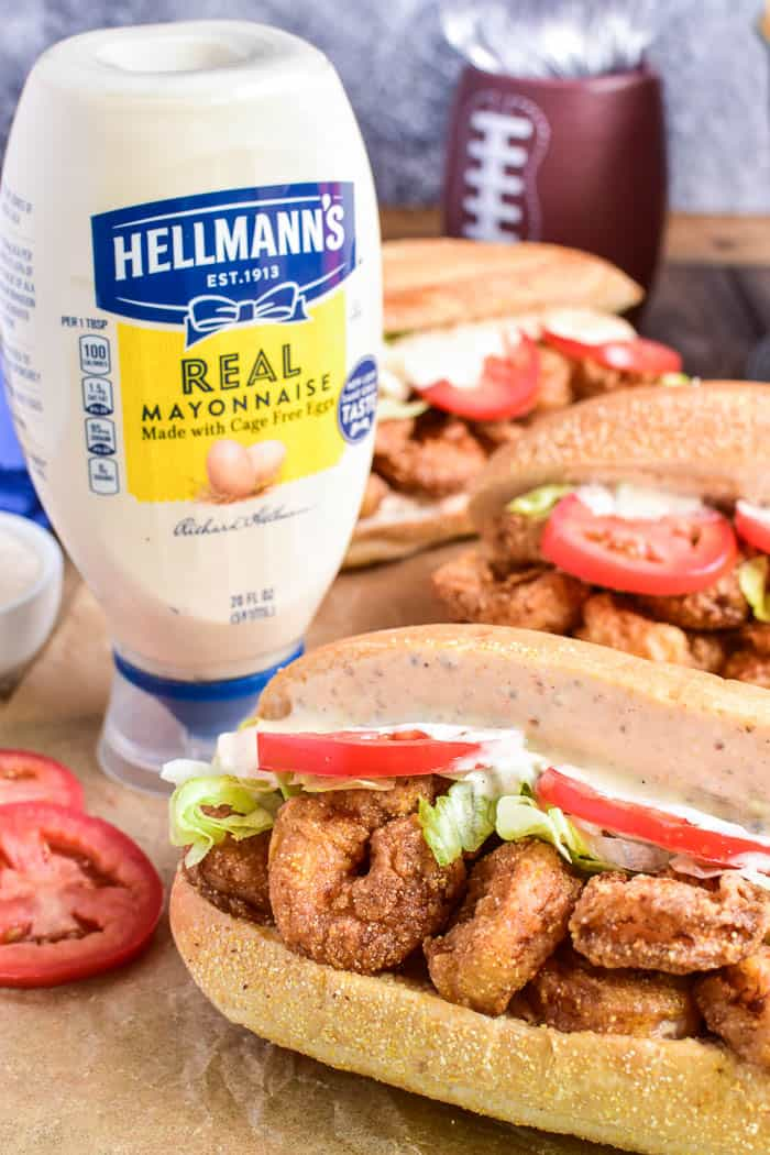 Shrimp Po Boy with Hellmann's Real Mayonnaise Squeeze