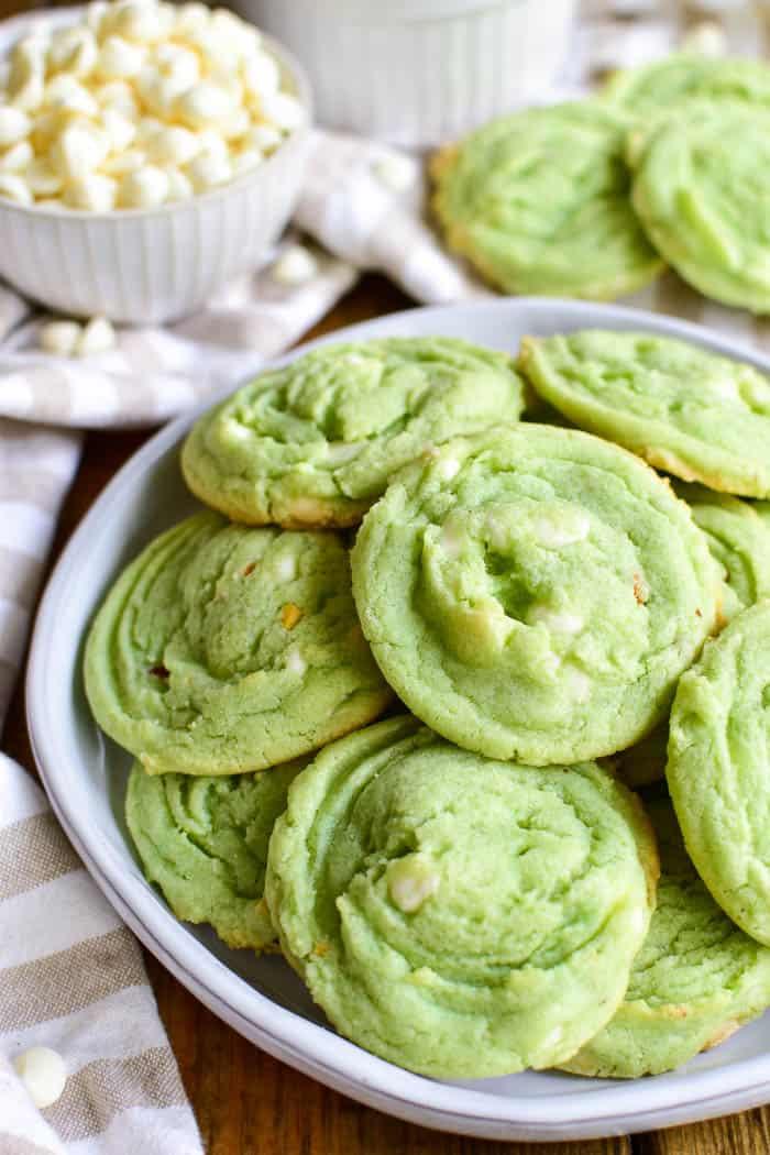 Pistachio Cookies on plate