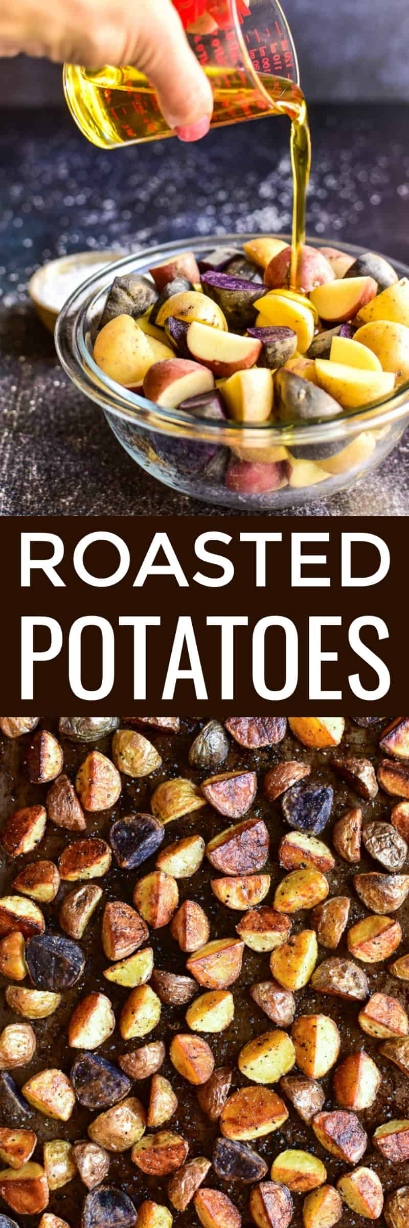 Roasted Potatoes Collage image
