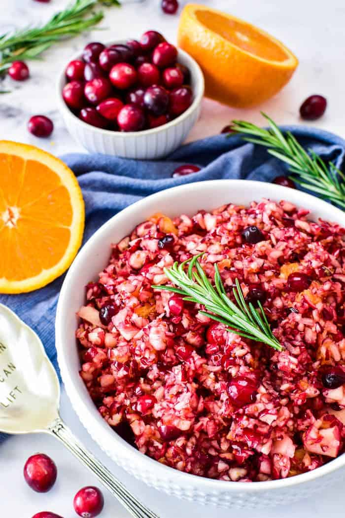 Cranberry Relish in serving bowl