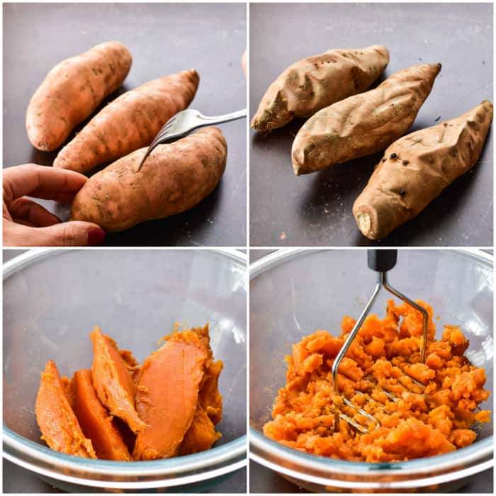 Step by step - how to bake and mash sweet potatoes