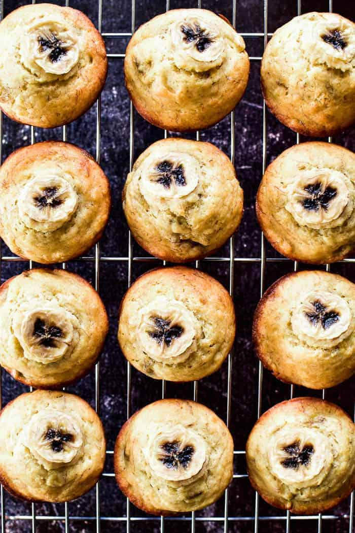 Banana Muffins on cooling rack