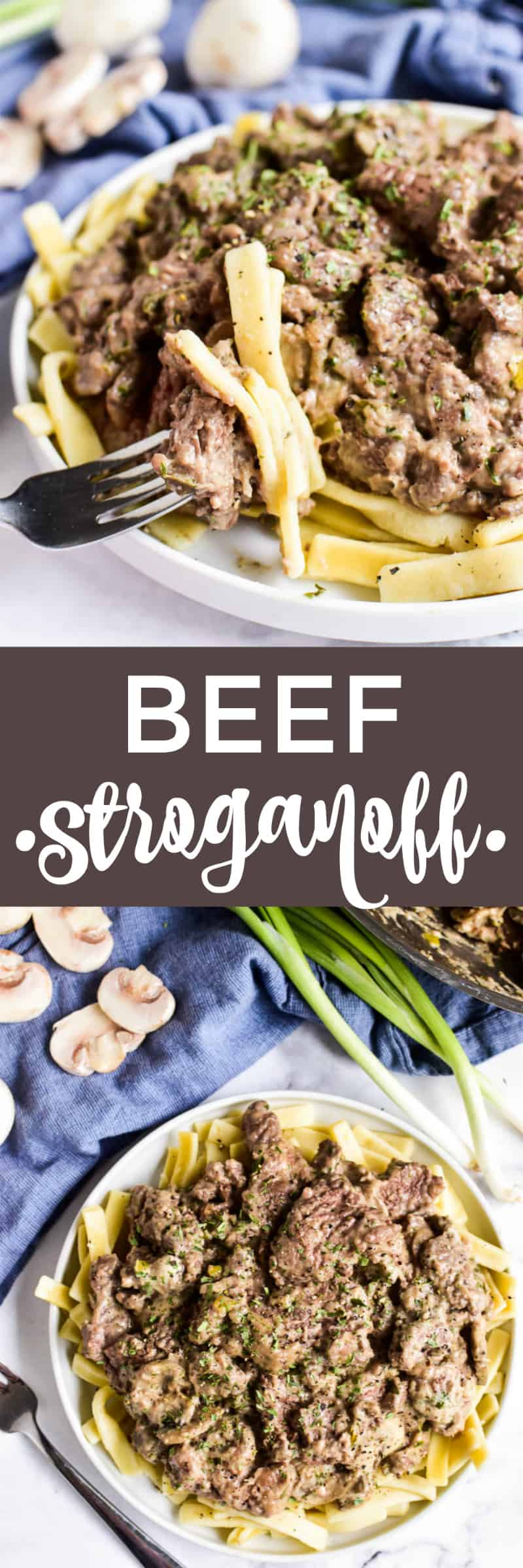 Beef Stroganoff Collage Image