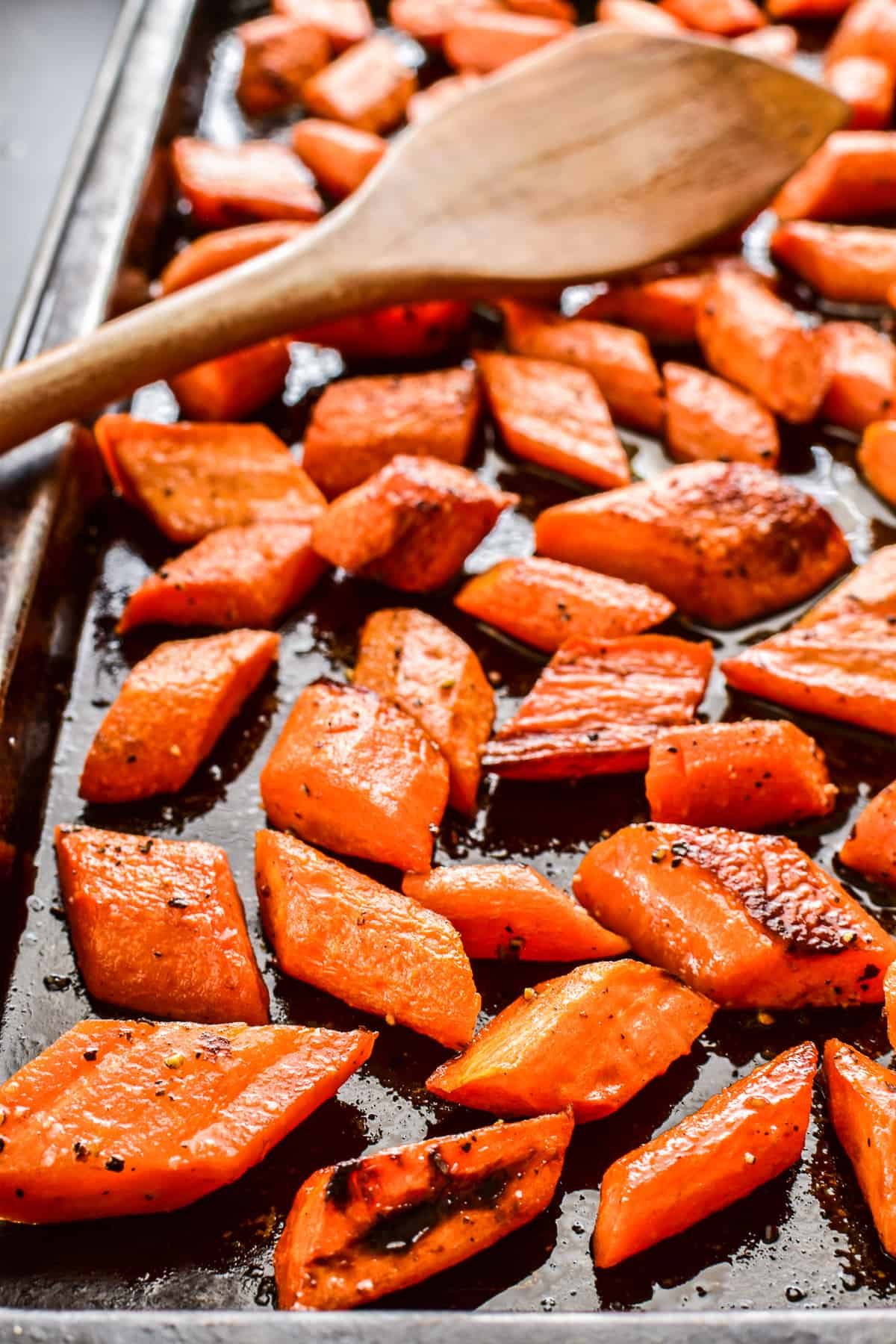 Roasted Carrots on baking pan