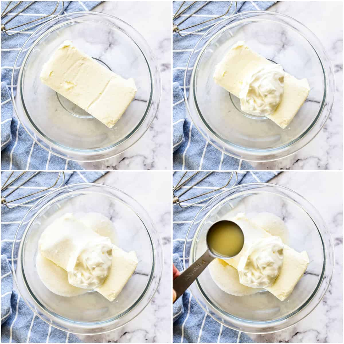 Step by step photos of how to make Fruit Dip