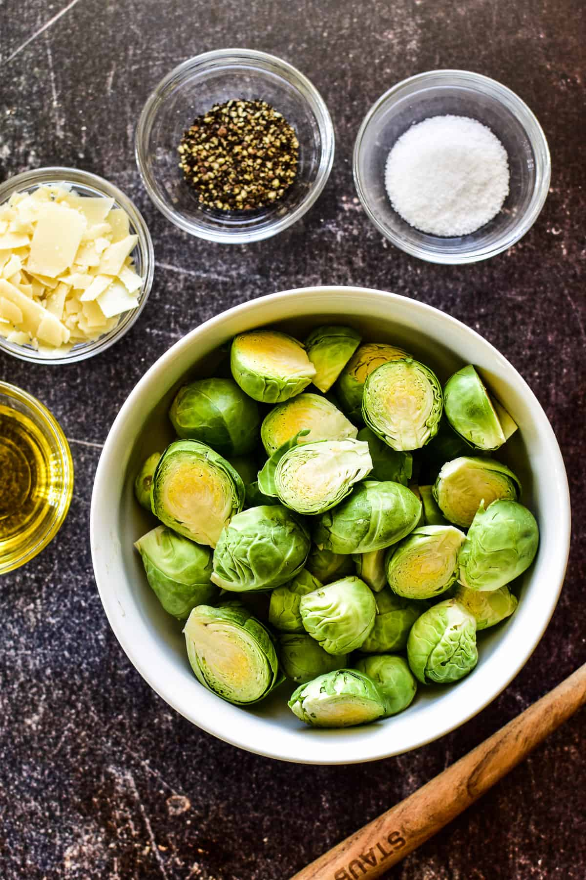 Ingredients for Sauteed Brussel Sprouts