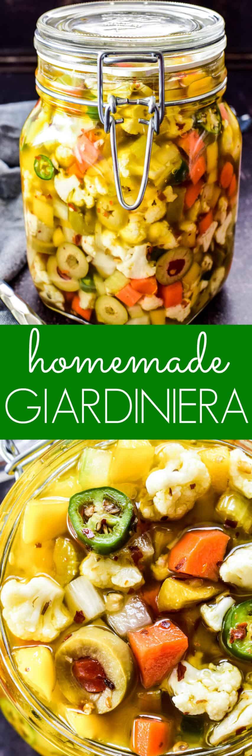 Collage image of Homemade Giardiniera