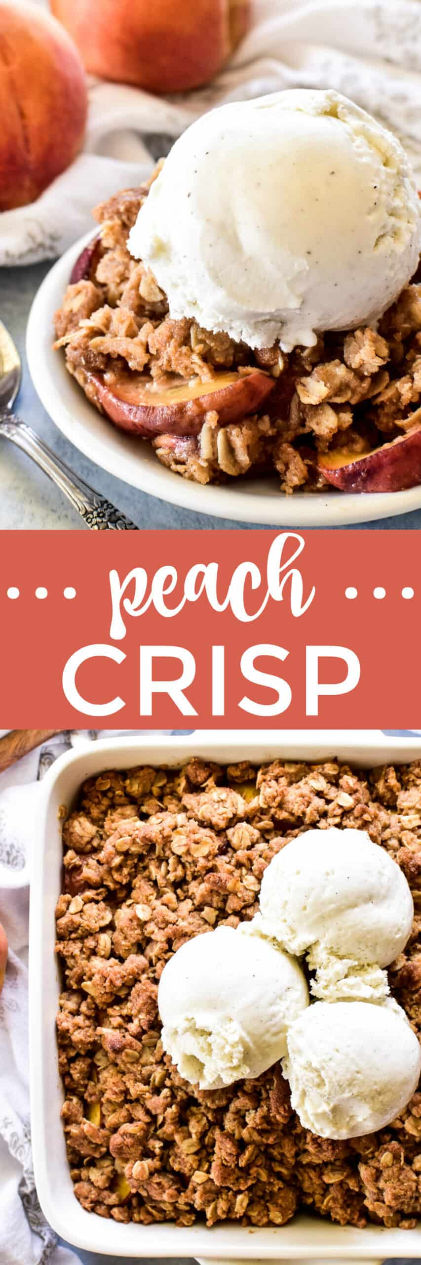 Collage image of Peach Crisp